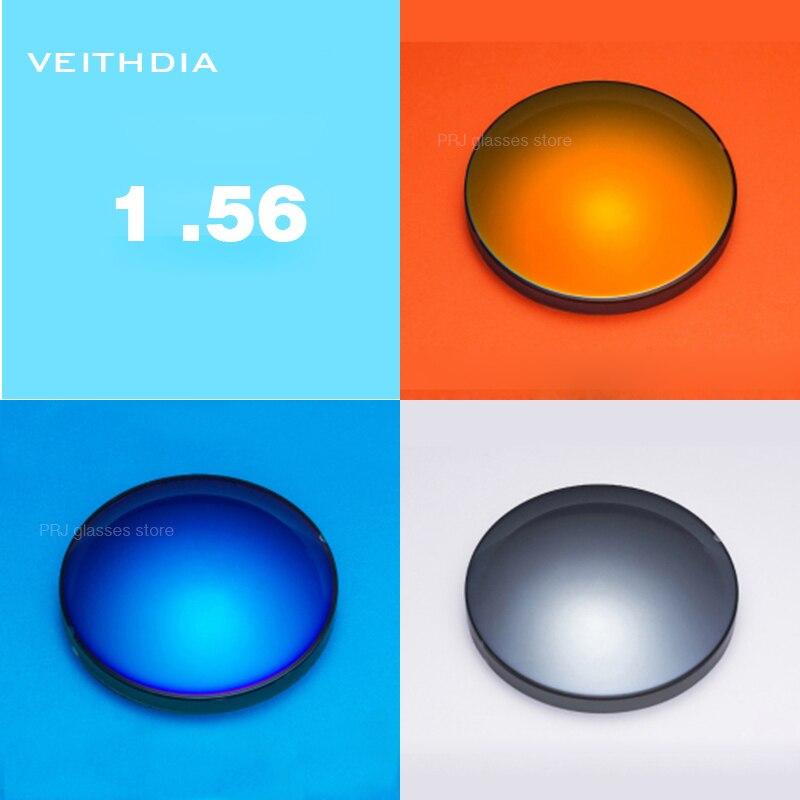 1.56 indice lunettes de soleil couleur miroir lentille Vision unique pour myopie 0.00-4.00, astigmatisme 0.00-2.00 degrés asphériques lunettes de soleil