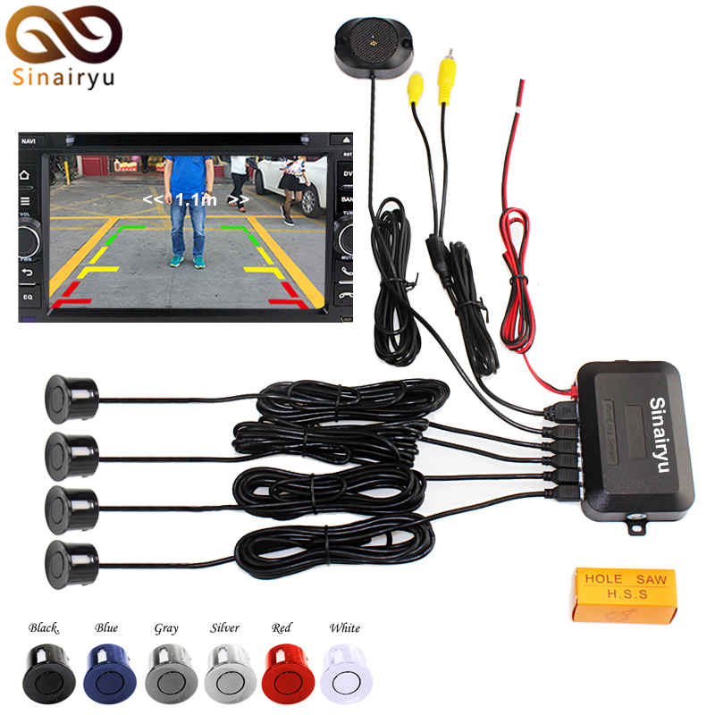 LCD Wire Video Parking Sensor Reverse Backup Radar Assistance, Auto parking Monitor Digital Display and Step-up Alarm