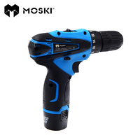 MOSKI 2017 NEW 12V DC Household DIY Lithium Ion Battery Cordless Drill Driver Power Drill Tool