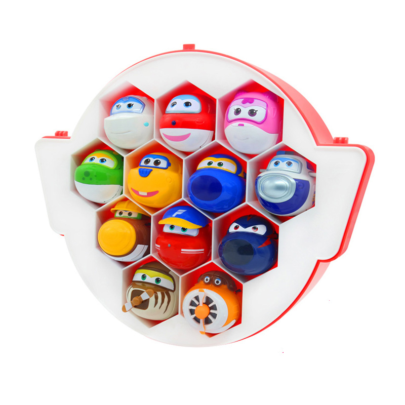 Toys & Hobbies The Cheapest Price 12pcs/set Super Wings Transformation Catapult Eggs Toys Mini Super Wing Planes With Plastic Box Action Figures Kids Toy High Resilience