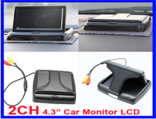Free shipping Car Monitor,HD 480*234 4.3 inch Foldable LCD, Special for the Vehicle DVR,Rear View Camera ,DVD High Quality,GS-M