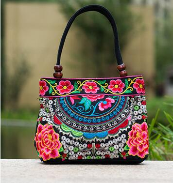 Price-promotion Women handbag!New nice Embroidered Lady bags national trend handbag embroidered embroidery Lady carry bag