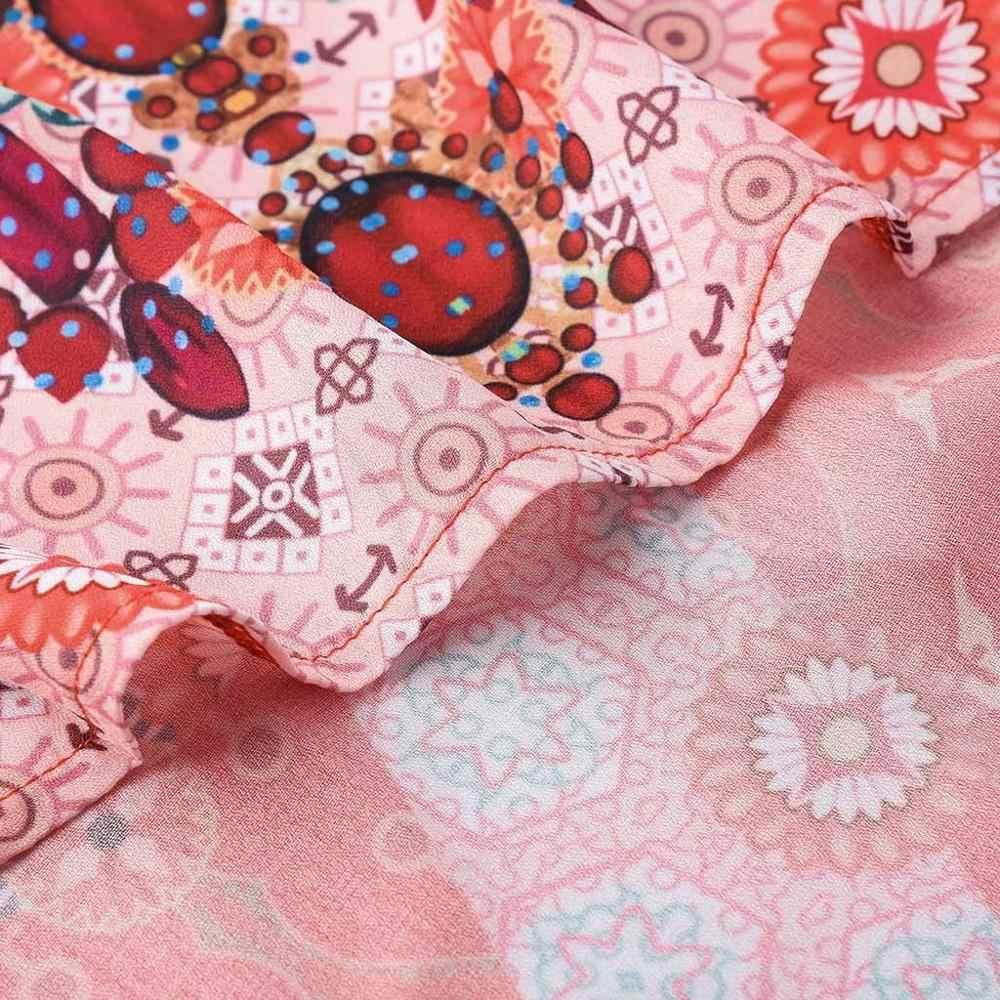 Модные женские летние майки топы летние, пляжные, без рукавов Boho шифоновые майки жилет Блузка женская с ремешками camisa de mujer TC5