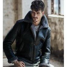 2018 Новая мода Для Мужчин's Дубленки кожаная куртка темно-коричневый B3 куртка оригинальная Летающая Куртка камуфляж серый