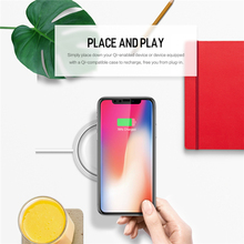 ROCK W5 QI Wireless Charger for iPhone X 8 Samsung Note 8 S8 Plus S7 S6 Edge