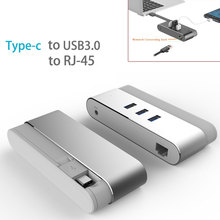 USB HUB Ethernet Kind c Three port USB Three.zero HUB Gigabit Ethernet Community Adapter Three USB Ports and Kind C RJ45 1000 Gigabit Ethernet