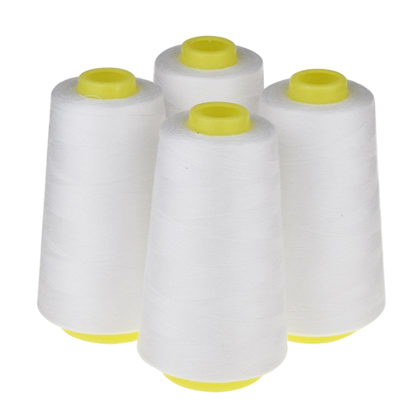 4 kegel (3000 yards jeder) Nähgarn Polyester Themen Spool von Themen (402 #) für Nähmaschine und Hand