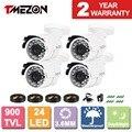 Tmezon 4pack HD 800TVL 900TVL 1200TVL CCTV Bullet Metal Home Security Surveillance Camera Outdoor Waterproof IR CUT Night Vision