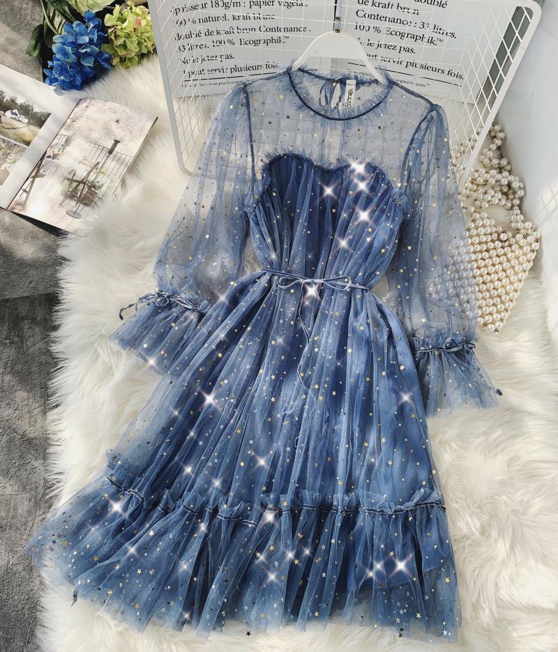 Gauze Two Piece Midi Dress 1