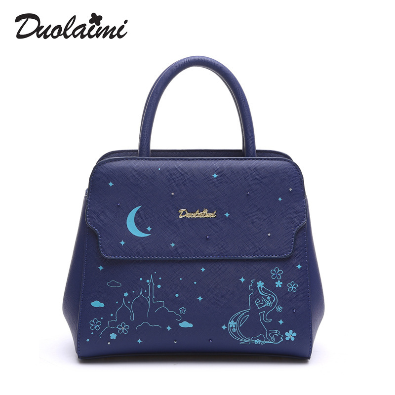 DUOLAIMI New Cartoon Printing Women Bag 2017 Female PU Leather Small Crossbody Shoulder Bags Girls Messenger Bag Bolsa Feminina women cute pattern small shoulder bag crossbody messenger fashion bags new design pu leather shoulder bags bolsa feminina