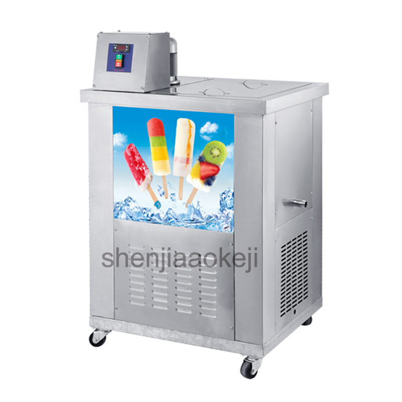 New Dual-mode Ice Lolly Machine Stainless Steel Commercial Popsicle Maker Ice Lolly Machine Capacity About 4000~8000pcs/day 1pc