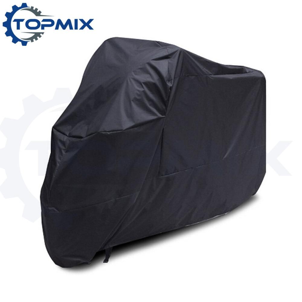 XL XXL XXXL สีดำรถจักรยานยนต์ปกกันน้ำกลางแจ้งป้องกันจักรยานฝนฝุ่น, ครอบคลุมสำหรับรถจักรยานยนต์, มอเตอร์ปกสกูตเตอร์