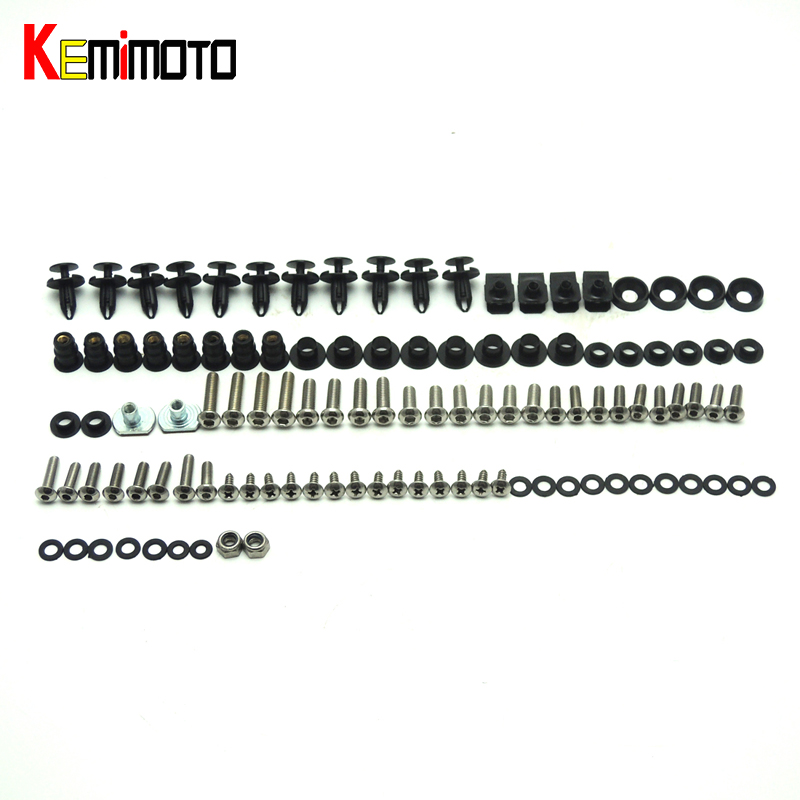 KEMiMOTO Motorcycle Fairing Bolt Screw Fastener Fixation for Honda CBR 1000RR 2008 2009 2010 2011 Complete Kit