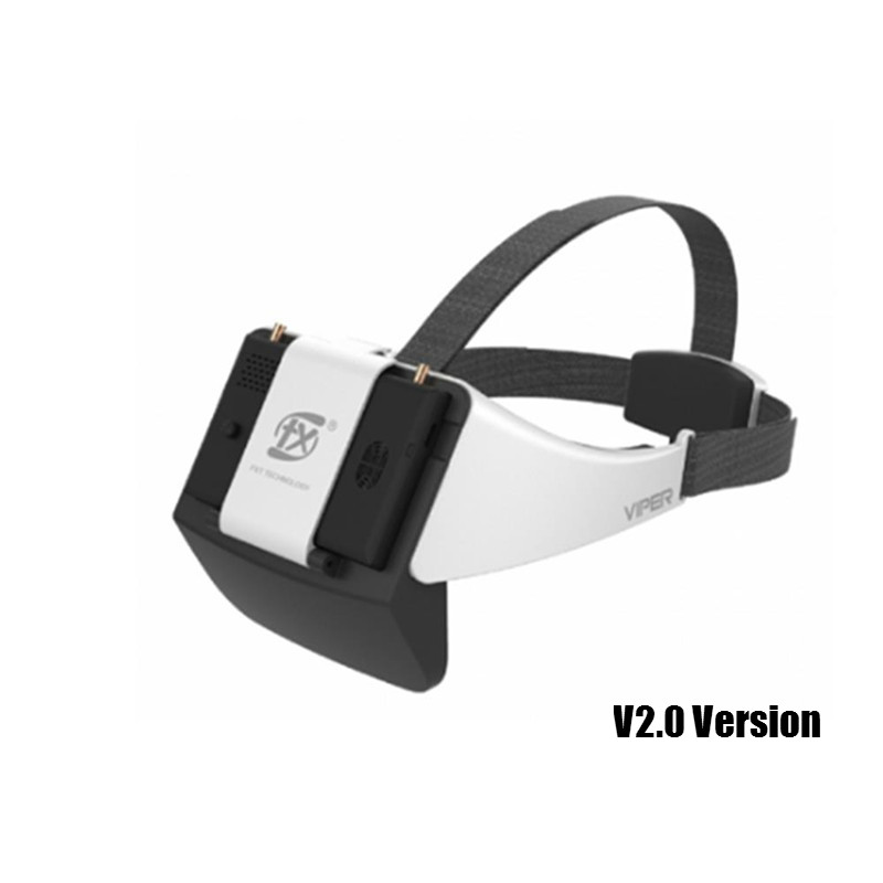 Новый FXT VIPER V2.0 5,8G разнообразие HD FPV очки с DVR встроенный рефрактор для радиоуправляемого дрона квадрокоптера запасные части FPV Accessoriess
