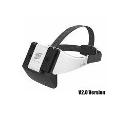 Новые очки виртуальной реальности FXT VIPER V2.0 5,8G HD FPV с DVR встроенным рефрактором для радиоуправляемого дрона квадрокоптера запасные части FPV аксессуары