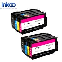 2 Set 950XL 951XL Ink Cartridge For HP 950 XL 951 XL Officejet Pro8100 8600 8610