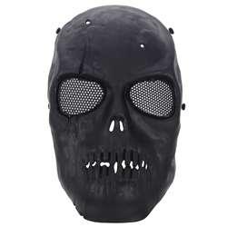 Маска для страйкбола череп полная защитная маска-черный