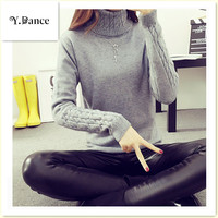 2018 NEW Thickening Warm Knitting Sweaters And Pullovers For Women Winter Casual Slim Elastic Turtleneck Knitwear