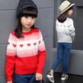 New 2016 Free Shipping Autumn/spring Wear Patchwork Girls Sweater Children Clothing Girls Cardigan Winter Warm Cute Outerwear
