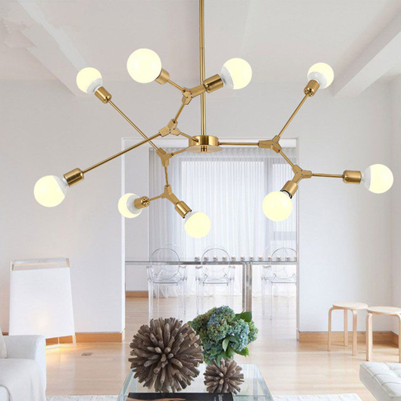 Nordic Postmodern Restaurant Pendant Light Creatuve Tree Branches Living Room Bedroom Hanging Light With Led Bulbs artificial bunch with 11 branches