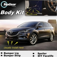 For Mazda CX 9 CX 9 CX9 Bumper Lip / Front Spoiler Deflector For TG Friends Car View Tuning / Body Kit / Strip Skirt