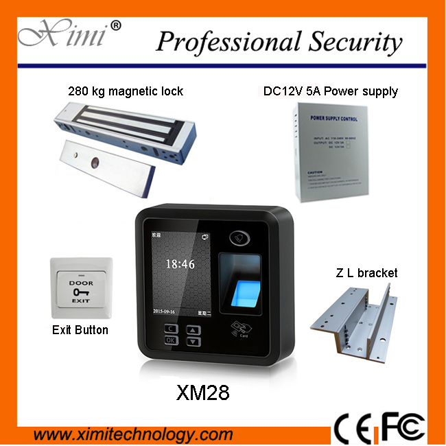 Good quality, cheap XM28, TCP/IP RS485 communication and ID card biometric fingerprint access control system