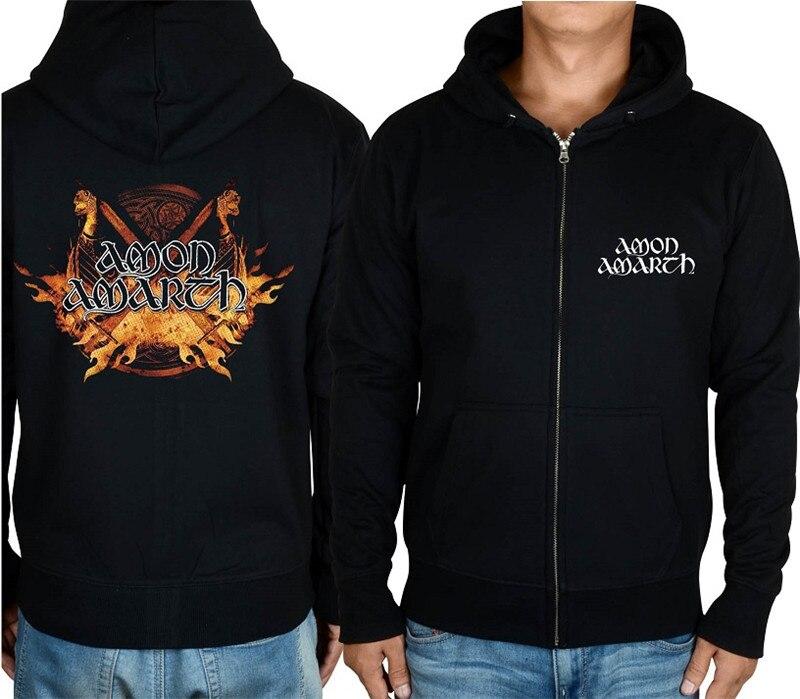 21 конструкции Амон рок молния хлопковые толстовки куртка sudadera панк тяжелый металл 3D череп флис Викинг Толстовка - Цвет: 8