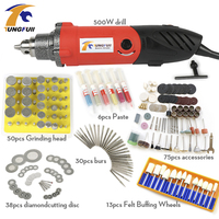 Tungfull 500W Professional Electric Mini Die Grinder Tool 0 6 6 5mm Chuck Variable Speed Rotary