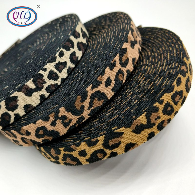 HL 15MM Width 2 Meters/5 Meters Leopard Elastic Band DIY  Garment Accessories For Making Headband