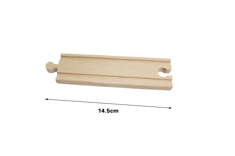 Thomas and Friends 1Piece Thomas Wooden Train Straight Track Railway Accessories 14 5cm Straight track