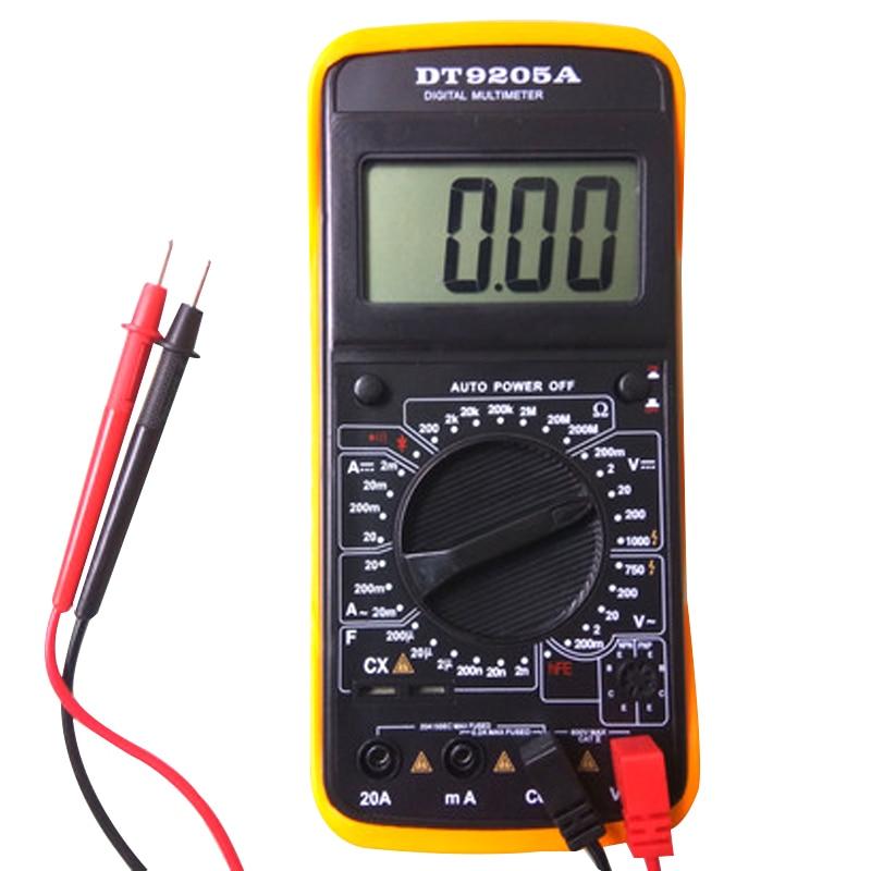 9205A Portatile Capacità Voltmetro Amperometro Multimetro Digitale AC/DC Tensione Corrente Resistenza Tester Multi Display LCD