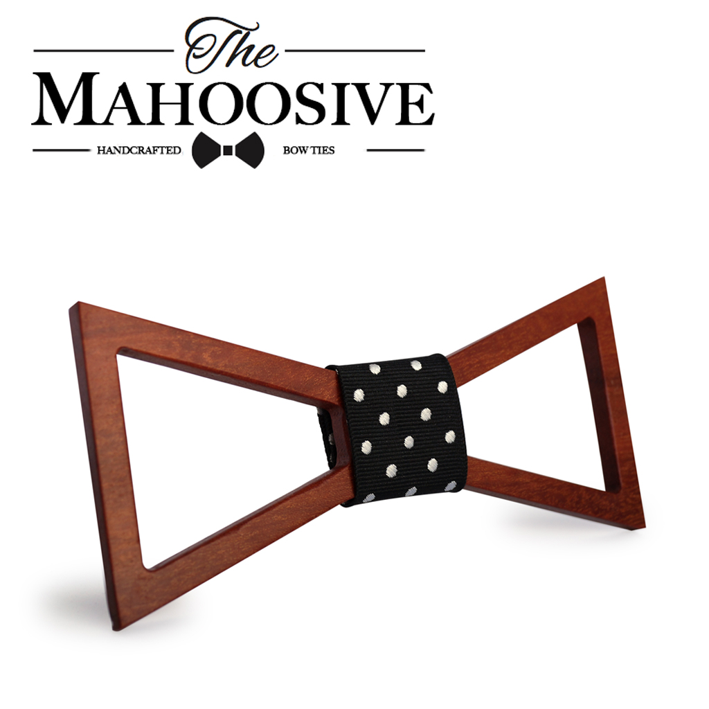 Mahoosive Fashion Solid Men's Bowtie Brand Cotton wood Bowties Classic Business Suits Bowknot wooden Bow Tie Ties Wedding Party