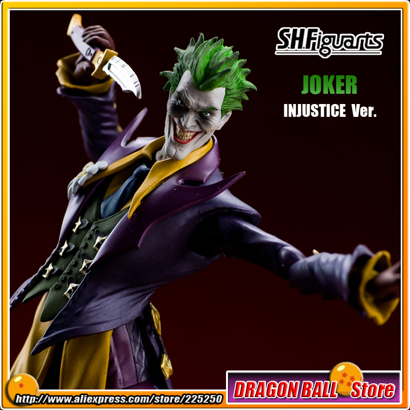 Batman Original BANDAI Tamashii Nations SHF/ S.H.Figuarts Toy Action Figure - The Joker (INJUSTICE Ver.) shfiguarts batman the joker injustice ver pvc action figure collectible model toy 15cm boxed