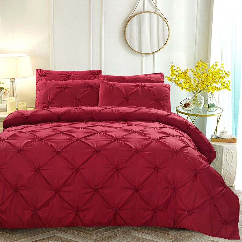Luxury Duvet Cover Set Red White Black