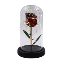 24K Gold-plated Natural Rose Eternal Flower Gold Foil Symbolizes The Love Valentines Day Must-have Gift