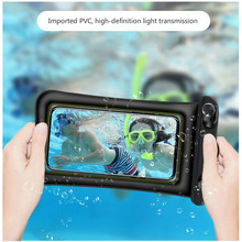 Transparent floating Airbag Waterproof Phone Bag waterproof Cover inflatable Phone Waterproof bag for 6 inches and below Phones