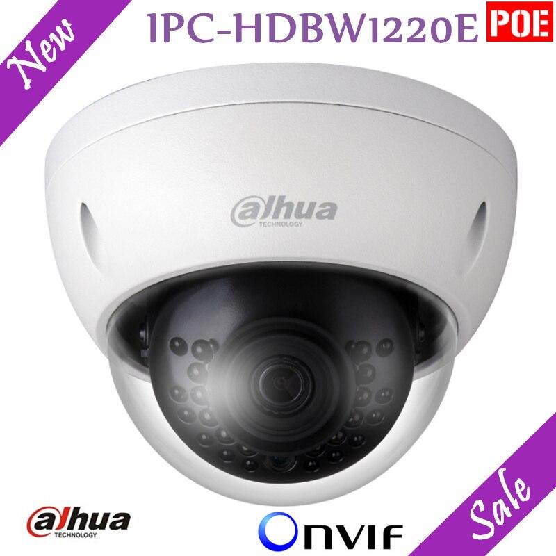 Новая английская версия Dahua 2mp IP Камера HD Сеть ИК купольная мини Камера ipc-hdbw1220e IP67 Поддержка PoE и ONVIF безопасности камера