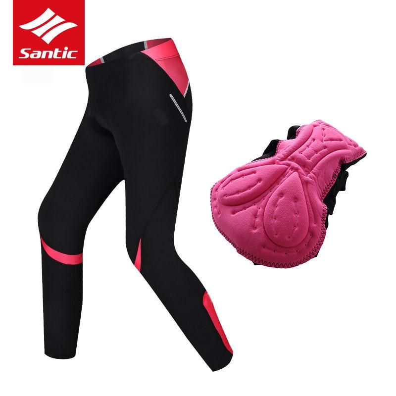 Santic Summer/Spring Cycling Pants Women Breathable MTB Road Bike Long Pants Trousers Quick Dry Bicycle Pants Pantalon Ciclismo