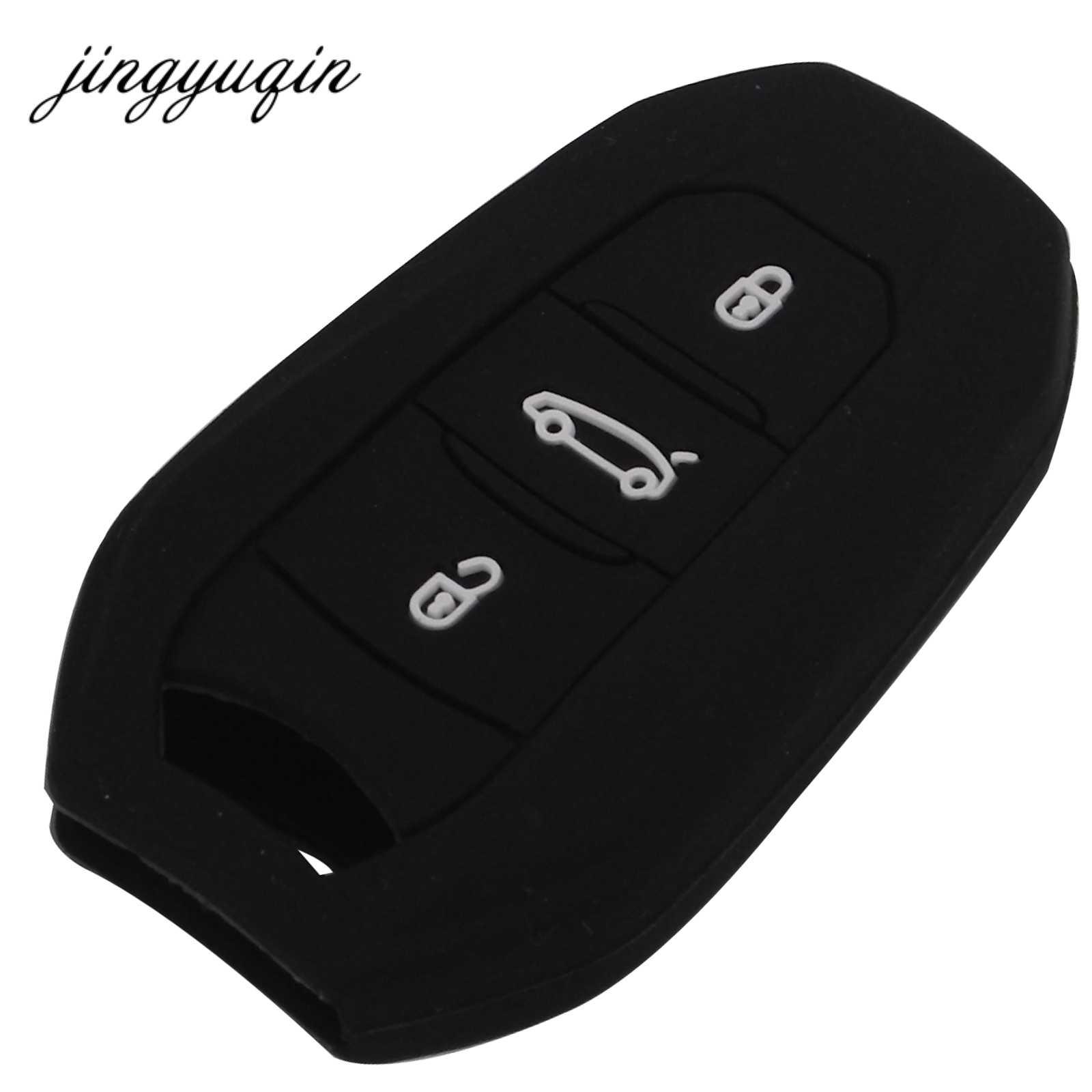 Jingyuqin Silicone Ô Tô Điều Khiển Từ Xa chìa khóa Dành Cho Đồng Hồ C5 C6 C4L XƯƠNG RỒNG C3XR DS6 DS5L Điện Elysee Xe Đạp Peugeot 2008 3008 508 4008 408