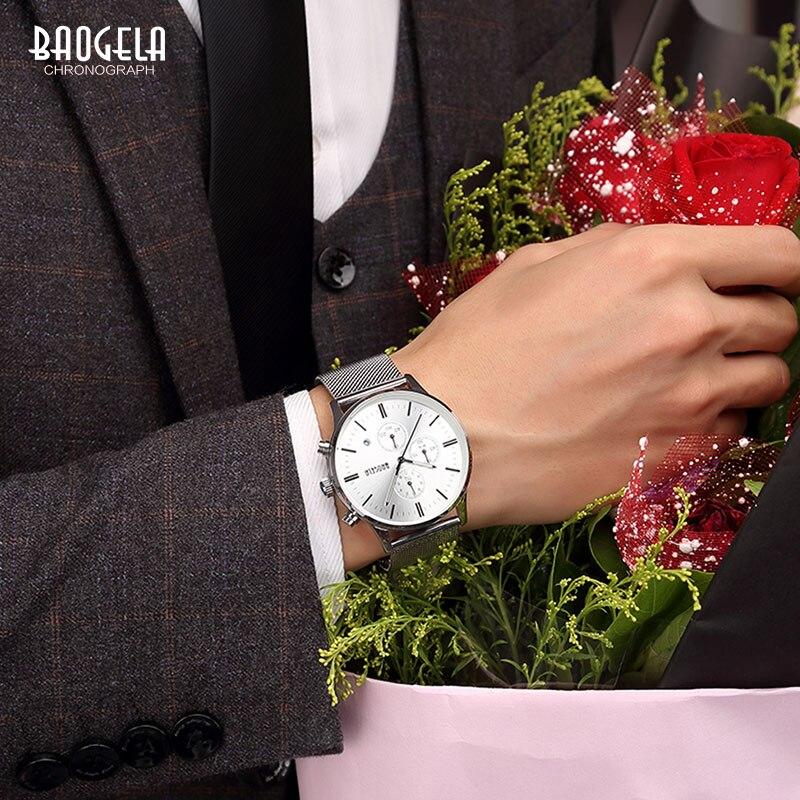 Baogela New Top Luxury Watch Տղամարդկանց - Տղամարդկանց ժամացույցներ - Լուսանկար 6