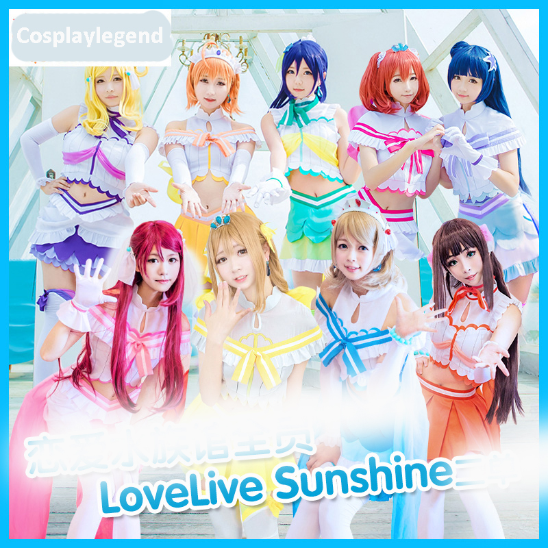 Love Live! Sunshine Aqours cosplay Koibininaritai AQUARIUM All Members Uniforms Cosplay Costume custom made 2018 guilty gear xrd sign dizzy uniforms cosplay costume custom made