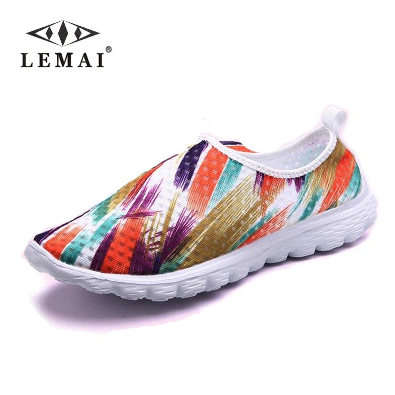 Nuevo 2017 Diseño de Moda de Graffiti zapatos casuales Resbalón-En los zapatos P