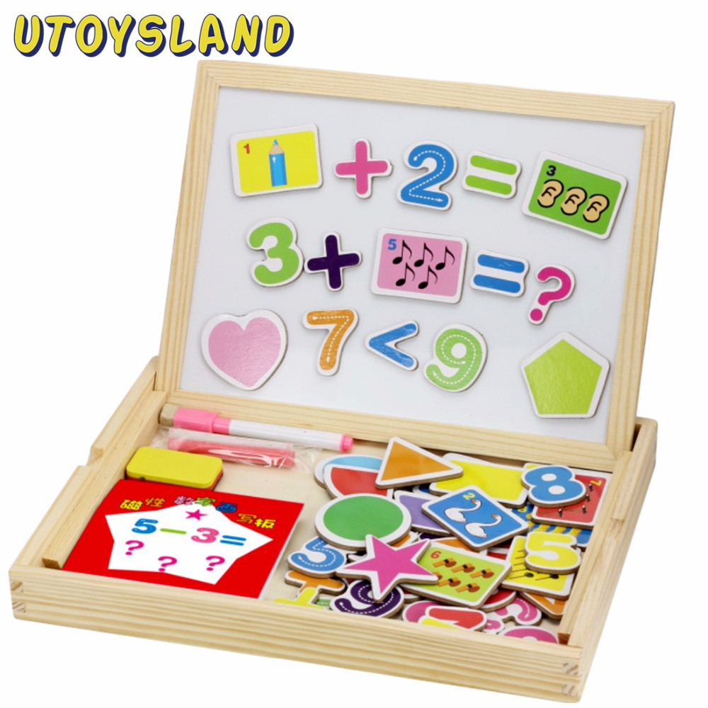 UTOYSLAND Baby Kids Educational Learning Wooden Magnetic ...