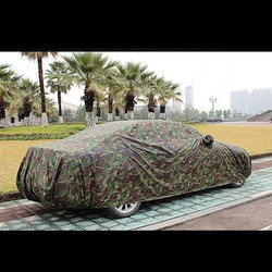 Folding Oxford Material Sun shade Waterproof Car Dustproof Cover Camouflage  Portable Garage Dustproof Cover