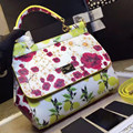 2016 new lemon flower leather Crossbody Bag female small portable shoulder leather female bag in Europe
