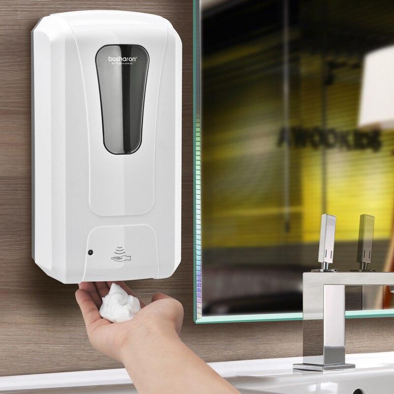 1000 ml Автоматическая Пена мыла настенный инфракрасный Сенсор бесконтактный диспенсер для моющего средства для рук Аксессуары для ванной ко...