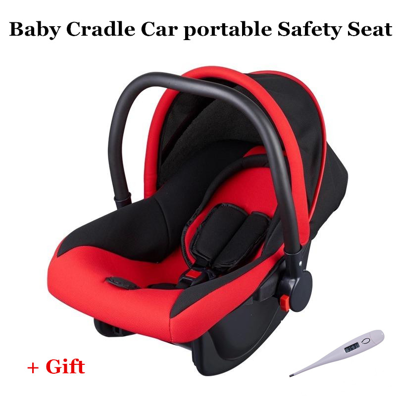 2017 Brand Newbore Cradle Bil Säkerhetssäten Justerbar Baby Car Portable Basket Trepunkts Harness Gratis Drop Ship Wholesale