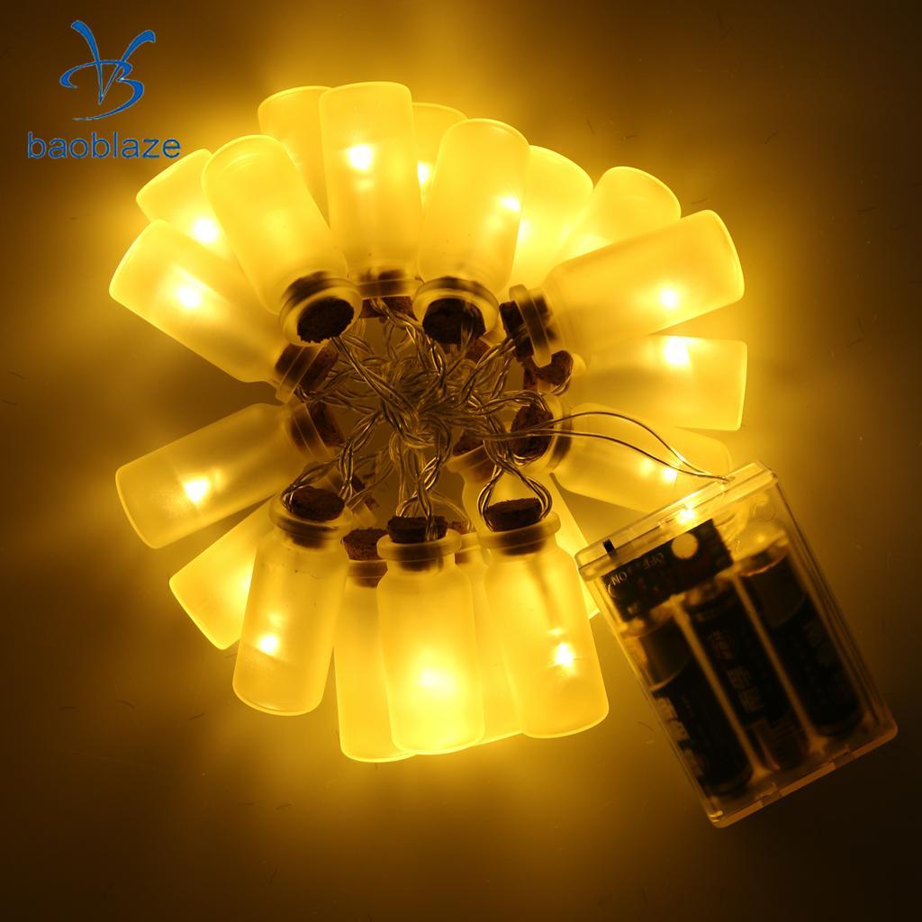 baoblaze deseando botellaclip de leaf led lmpara luz de