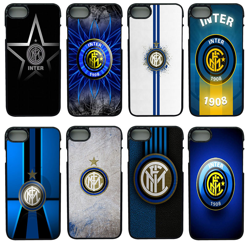 Inter Milan Italy Football Club Logo Phone Cases Plastic Anti-knock Shell Protect Phone Cover for iphone 8 7 6 6S PLUS X 5S 5 SE