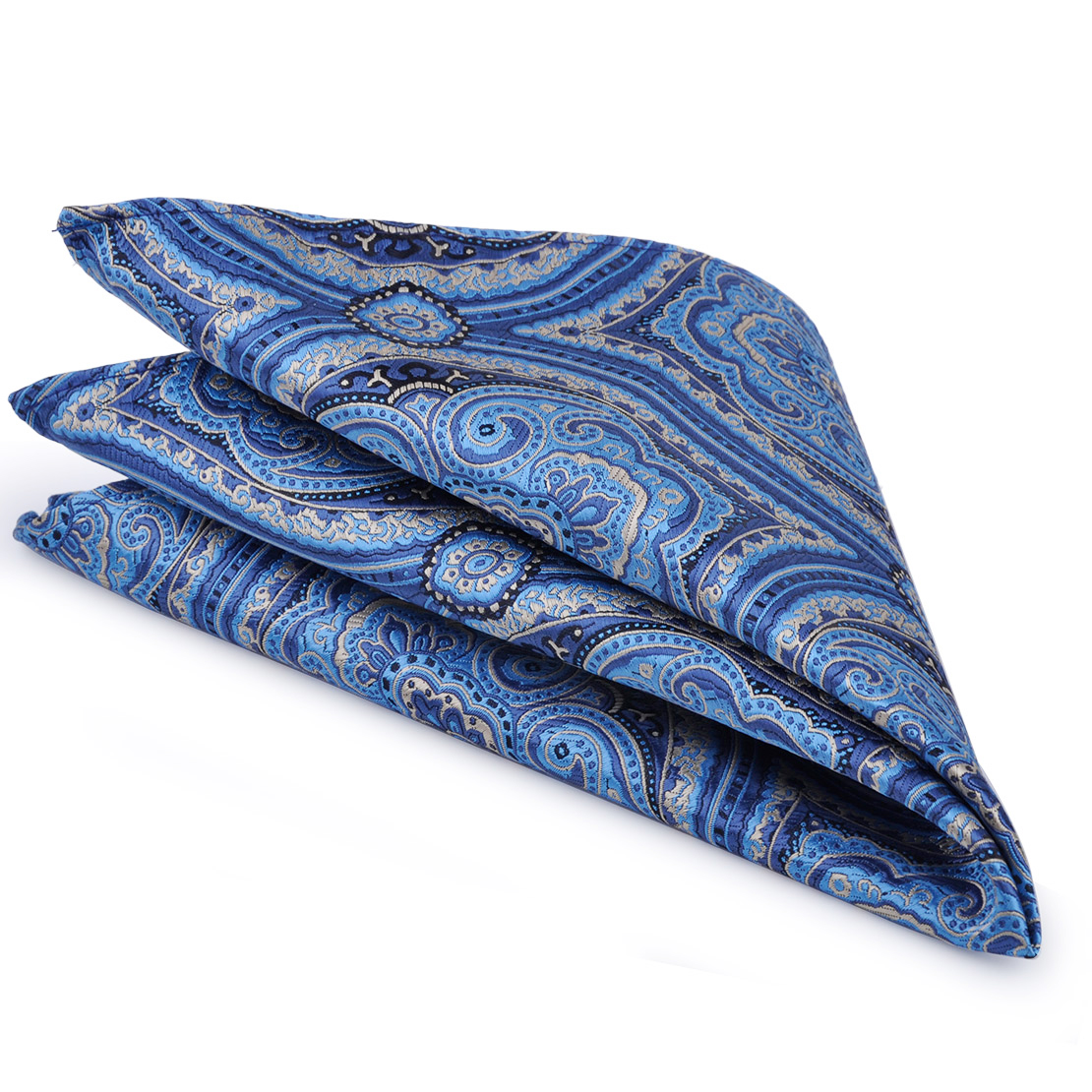 CiciTree New Men's Paisley Suit Pocket Square Men Silk Polyester Jacquard Woven Handkerchief For Wedding Boys Father's Gift
